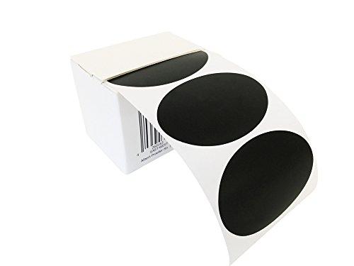 EAST-WEST Trading GmbH 100 ovale Tafelsticker, Etiketten, Vinylsticker, Tafelaufkleber in praktischer Spenderbox, für Haushalt, Candy Bar und vieles mehr