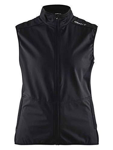 Craft Warm Vest W pour Femme Gilet, Black/Platinum, M