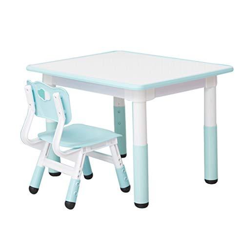 Table d'étude pour enfants Bureaux et chaises pour Enfants Table de Jeu relevable Petite Table d'apprentissage Protection très Saine et sûre (Color : Blue-A)