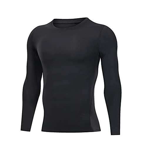 Camiseta de los hombres de manga larga de alta elasticidad transpirable de secado rápido Running Training Sportswear sudadera de los hombres