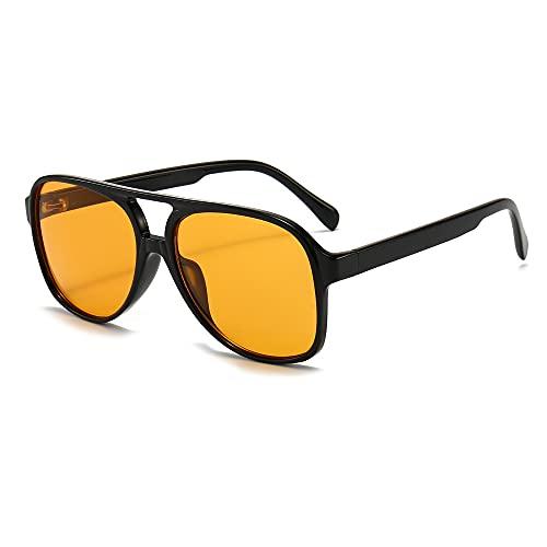 Long Keeper Occhiali da Sole Polarizzati Unisex - Occhiali da Sole Vintage Pilota style per Donna Uomo Anni 70 Montatura Grandi Quadrati