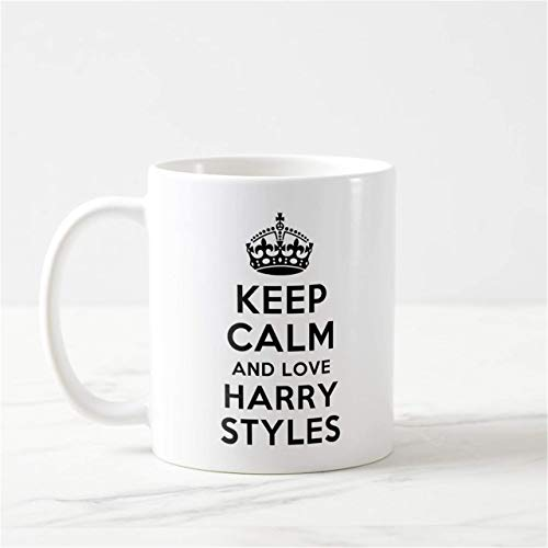 N\A Keep Calm Mug Taza de Harry Styles Regalos de Harry Styles Regalos de Harry Styles Taza de Harry Styles One Direction Funny Harry Styles Mrs Harry Styles
