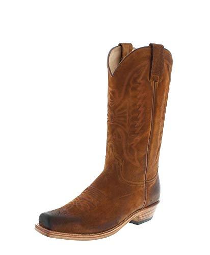 Sendra Boots Herren Cowboy Stiefel 2073 Bronson Camello Lederstiefel Braun 48 EU