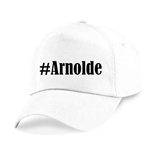 Reifen-Markt Base Cap Hashtag #Arnolde Größe Uni Farbe Weiss Druck Schwarz