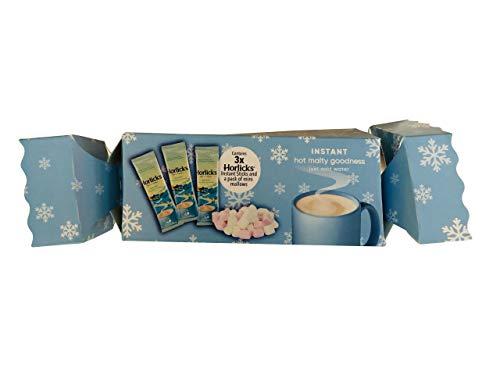 Horlicks Christmas Cracker Instant Malt Sachets & Marshmallows Xmas Gift Set