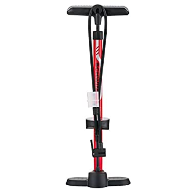 Schwinn 3 Dual Head Best Floor Pump, Red