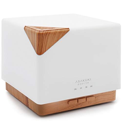 ASAKUKI 700ml Aroma Diffuser Luftbefeuchter, Ultraschall Aromatherapie Diffuser für Ätherische Öle mit Timer und 7 Farben LED für zu Hause Schlafzimmer Babyzimmer Studie Yoga Office