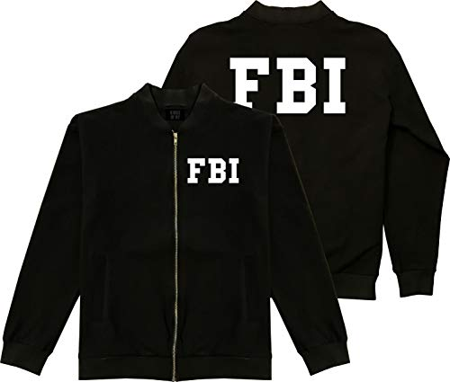 Kings Of NY FBI Law Enforcement Costume Mens Cotton Bomber Jacket X-Large Black