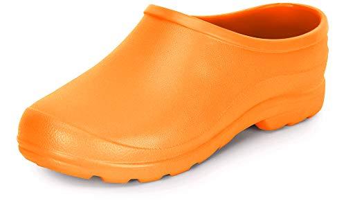 Ladeheid Damen und Herren leichte Eva Clogs Gartenclogs Gartenschuhe LADW001 (Orange, 40 EU)