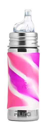 Pura kiki Trinklernflasche Edelstahl Pink Swirl Pura Stainless