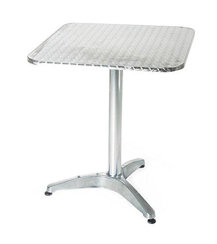 VERDELOOK aluminium tuintafel vierkant aluminium 60x60x70 cm voor buitenmeubelen