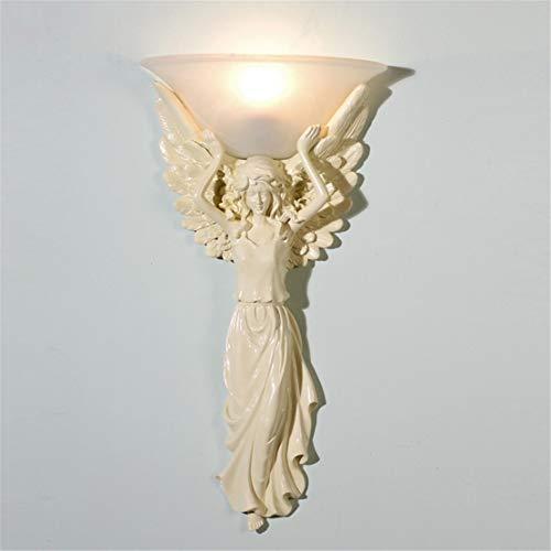 Lámpara de pared Hotel buen corazón arte europeo lámpara de pared LED lámpara de mesilla dormitorio hotel creativo ktv arcángel