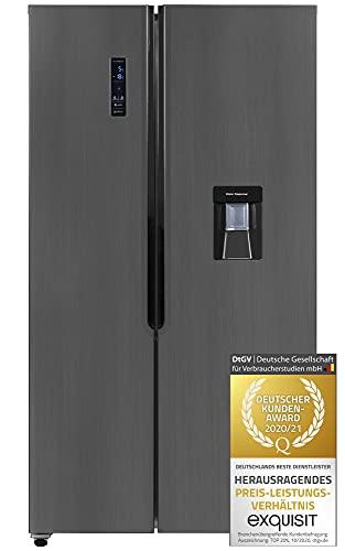 Exquisit SBS 110-4 XWTA A+ Kühlschrank | Side-by-Side | No Frost | 518 Liter | Inox-Dunkel
