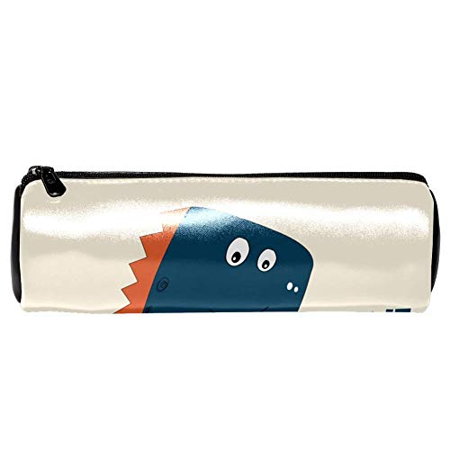 TIZORAX Pencil Cases Cartoon dinosaurus Lama luier kat dieren Pen Bag make-up tas voor vrouwen meisjes jongens 20x6.3cm/7.9x2.5in Patroon 8