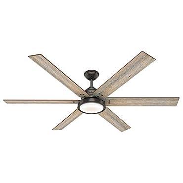 Hunter Fan Company 59397 Warrant 70 Ceiling Fan with LED light, Noble Bronze