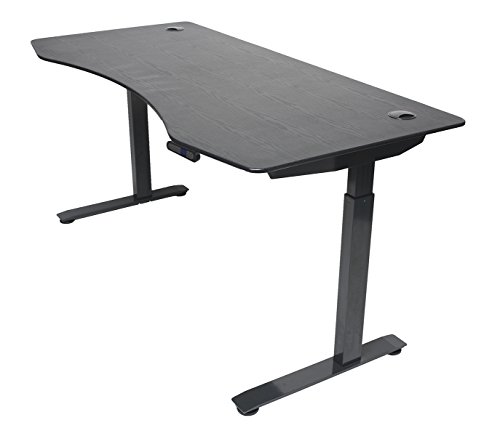 ApexDesk Elite Series 60' W Electric Height Adjustable Standing Desk (Memory Controller, 60' Black Top, Black Frame)