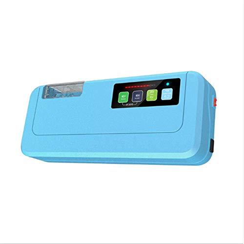 LDQLSQ Vacuümmachine, ingebouwd snijsysteem, huishoud- en handels-nat- en droogvoer-thee-machine, blauw