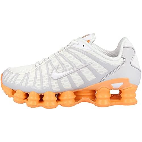 Nike W Shox TL, Zapatillas de Atletismo Mujer, Multicolor (White/White/Pure Platinum/Fuel Orange 000), 40 EU