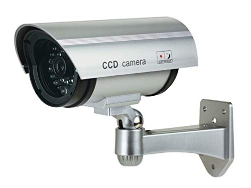 Best Price Monoprice Dummy Bullet Security Camera with Blinking Red LED - Silver