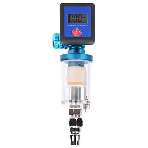Medidor de presión de aire digital, regulador de aire digital funcional, presión de neumáticos de plástico de acero inoxidable ampliamente utilizada para regular el aire