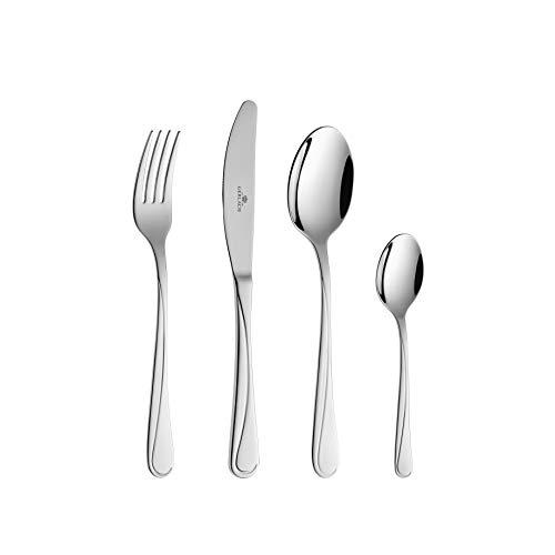 Gerlach Besteck-Set Glänzend Mango, Edelstahl, Silber, 30 x 27 x 5 cm, 24-Einheiten