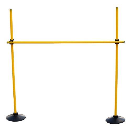 Valla de salto: ( 3 picas 100cm, 2 bases de caucho, 2 clips de conexión) Color amarillo