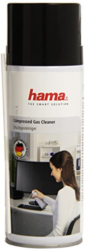 Hama Office-Clean Compressed Gas Cleaner - Kit de limpieza para ordenador, líquido, lugares difíciles de alcanzar, 400 ml