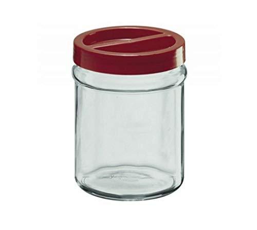 takestop® glazen opslagpot 3500 ml schroefdop rode keukenafvoervaas transparant conserveren onderbedconversatie voedsel voedsel voedsel