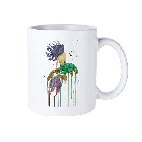 Camiseta para hombre, camiseta de amante de la sirena, camiseta de sirena triste, regalo de sirena, regalo de amante de la sirena, regalos para él, regalos para hombre, taza de café, taza de café, acu