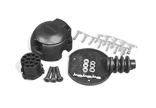 Westfalia-Automotive 900001506617 13-polig stopcontact, zijdelingse of axiale kabeluitgang, platte vorm, geschikt voor draaibare stopcontacthouders van Westfalia
