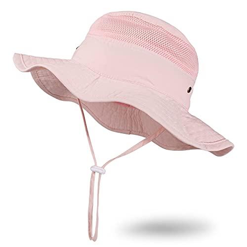JUPSK Sombrero de Cubo para niños, Sombrero de Sol para bebé Sombrero de protección para bebé Solar UV Sombrero de Verano para niños pequeños y niñas