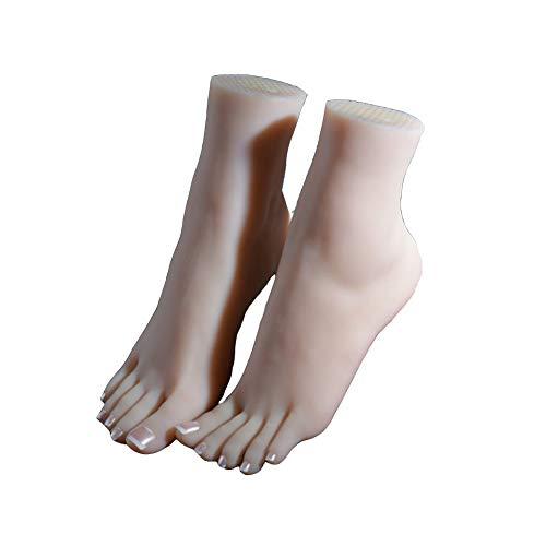 QZAA-Künstliche Fuß Modell Silikon Fußprothese Simulation Echte Haut Weibliche Schaufensterpuppe Geeignet für Zeigen Sandalen Socken Kunst Skizze Fuß Spielzeug