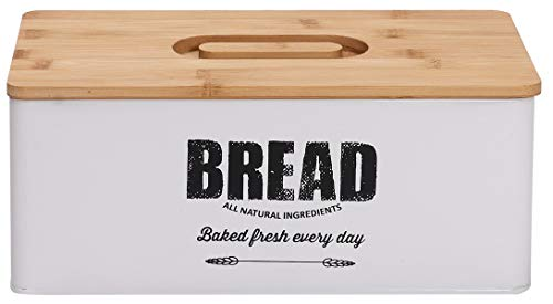 Xbopetda Metal Bread Box Loaves Storage Canister Tins, Small Bread Storage...