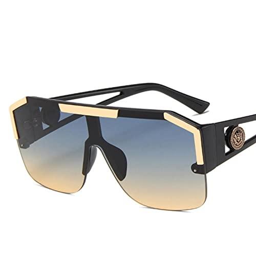 UKKD Gafas de Sol Gafas De Sol Hombres/Mujeres Conducción Sombras Masculinas Gafas De Sol Vintage Viajes Pesca Classic Shades Gafas De Sol-Black Green Yellow