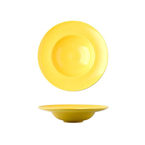 ZED- Plato para Pasta,Plato de Pasta de Cerámica Vajilla de Cerámica Nórdica-5 Colores