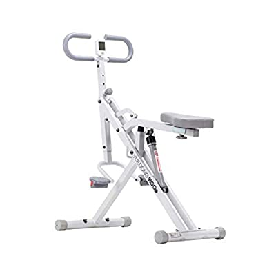 DHUA Multi-Functional Riding Fitness Machine, Horse Riding Machine Home Multifunctional Bodybuilding Knight Indoor Sports Fitness Equipment Fitness Suitable for All Ages (White)