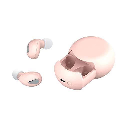 XZJJZ Auriculares Bluetooth, Xiaodoudou Wireless Smart Touch Reducción de ruido en la oreja El sonido estéreo es cómodo, adecuado para escuchar música, correr, trabajo y negocios (color rosa
