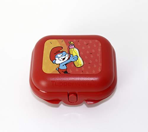 Tupperware to Go Mini Twin - Fiambrera para la escuela, tamaño 1, diseño de pitufos, color rojo