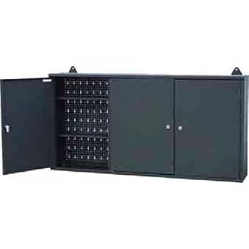 colore nero Us pro Tools armadietto da parete in metallo con ante e ripiani; per riporre gli attrezzi in garage