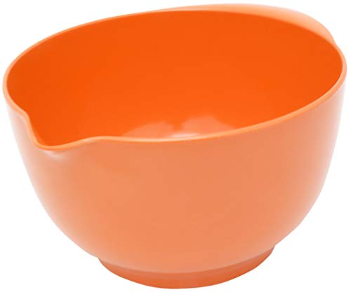 ChefTool 3 Litre Melamine Mixing Bowl – Orange44; Pack of 6