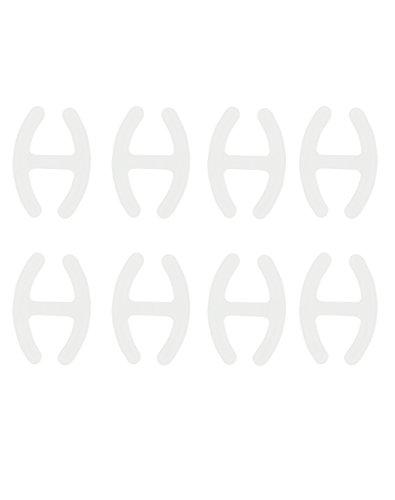 com-four® 8X BH H Clip - zum Verstecken und Verkürzen der BH-Träger in transparent (08 Stück - Transparent)