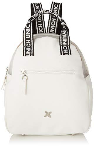 Munich Backpack Tulle, Bolso mochila para Mujer, Blanco (White), 15.5x30x35 cm (W x H x L)