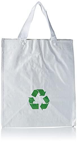 Productos Del Hogar Basura/Cubos, Separables, con Asas, Gran Capacidad, para Papel, Vidrio y Plástico, Ideal para Hogar/Oficina/Interior/Exterior, Pack 3 Bolsas de Reciclaje Blancas