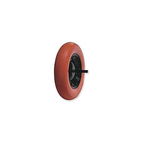 Gayner - Rueda carretilla obra impinchable con eje, diámetro 360 mm