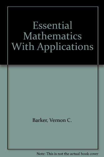 Download Essential Mathematics With Applications 0395712297