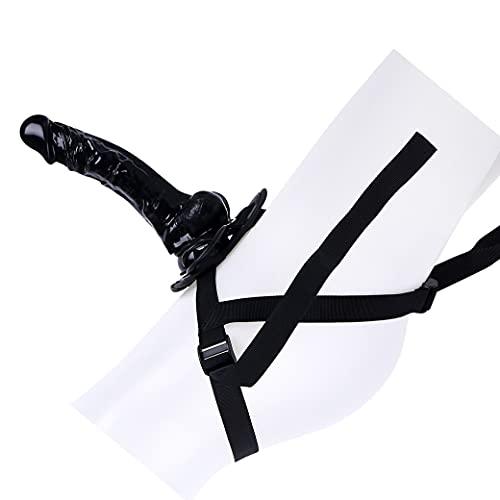 Arnẹs con Hømbrẹs Ġäys, Largo, 9.45 Pulgadas / 24 cm Increíble Mano Impermeable Agua Juguete Trasero Ventosa Ventosas. Sin PueSer Manual (Negro) FZJUomp4Y8