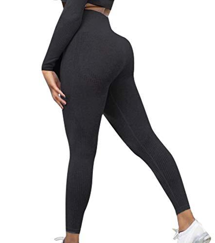 KIWI RATA Leggings Mujer Fitness Cintura Alta Mallas Pantalones Deportivos Leggins Yoga Push up sin Costuras Pantalón Estiramiento para Deporte Correr Elásticos y Transpirables