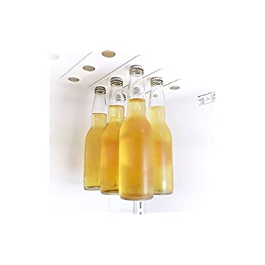 Magnetic Beer Bottle Hanger and Holder for Fridge, Extra Strong, 2 Strips of 3 Magnets (6 Pack), Also for Jars and Cans