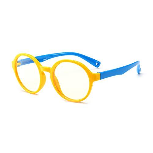 fangcheng network technology Co., Ltd fangcheng Anti Blaulicht Brillengestell | Kinderbrillen + Brillenetui | Transparente Linse, Kinder Retro Lesebrillen für Mädchen Jungen - F18083008