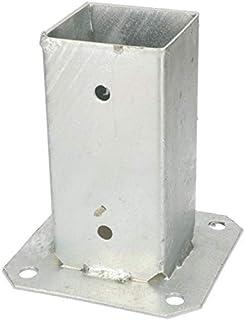 KOTARBAU - Soporte para postes de madera cuadrada, galvanizado al fuego (120/100/90/70 mm), Plateado